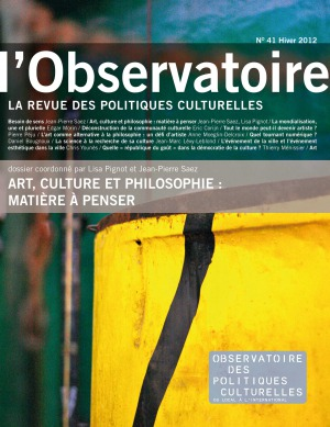 Art, culture et philosophie : matire  penser